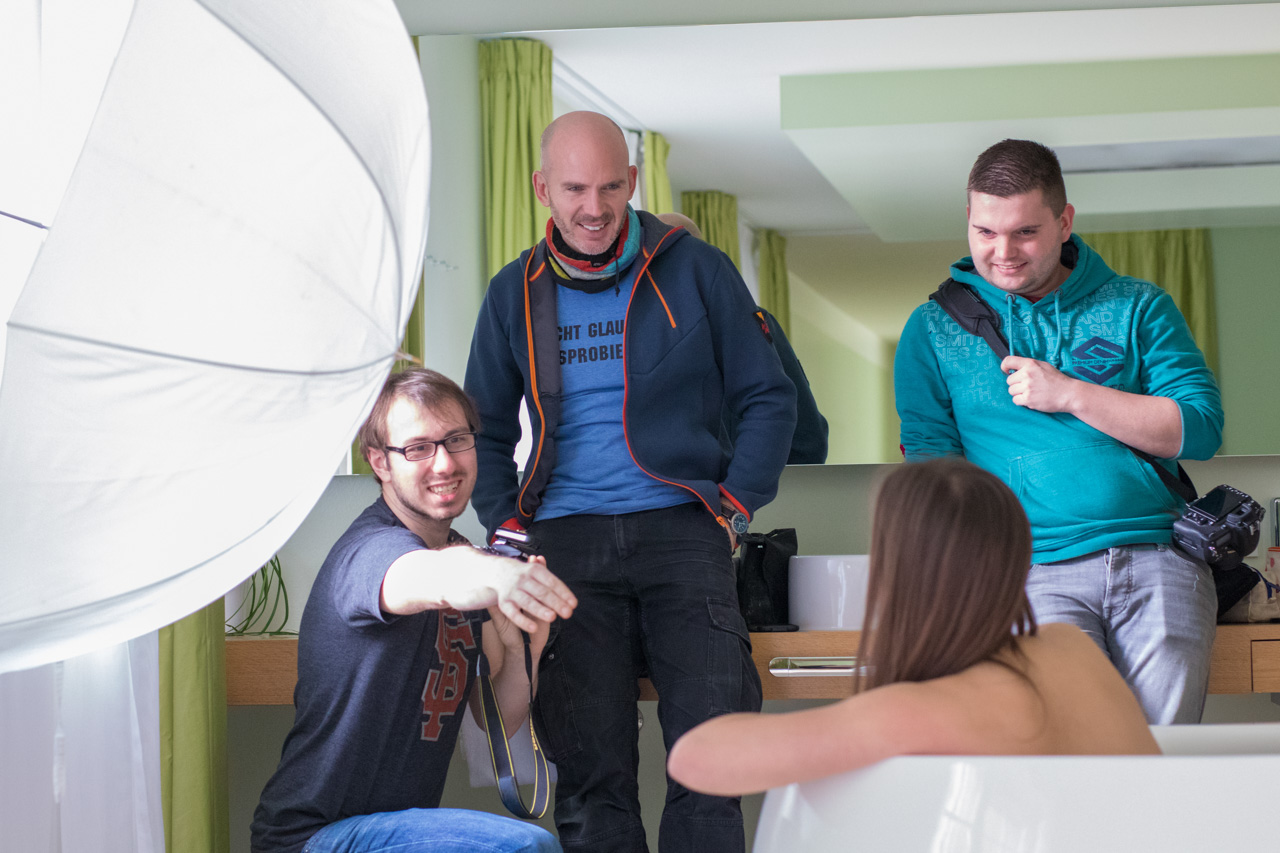 Portrait Workshop in einem Hotel
